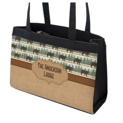 Cabin Zippered Everyday Tote w/ Name or Text
