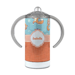 Foxy Yoga 12 oz Stainless Steel Sippy Cup (Personalized)