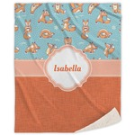 Foxy Yoga Sherpa Throw Blanket (Personalized)