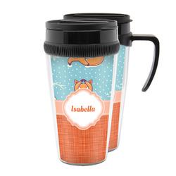 Foxy Yoga Acrylic Travel Mugs (Personalized)