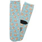 Foxy Yoga Adult Crew Socks (Personalized)