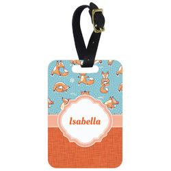 Foxy Yoga Aluminum Luggage Tag (Personalized)