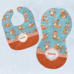 Foxy Yoga Baby Bib & Burp Set w/ Name or Text