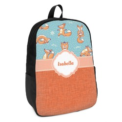 Foxy Yoga Kids Backpack (Personalized)
