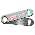 Foxy Yoga Bar Bottle Opener w/ Name or Text