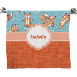 Foxy Yoga Full Print Bath Towel (Personalized)