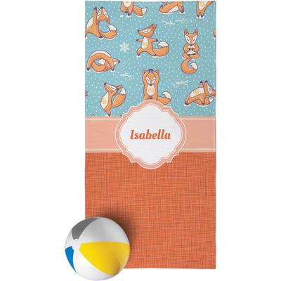 Foxy Yoga Beach Towel (Personalized)