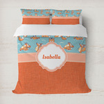 Foxy Yoga Duvet Cover (Personalized)