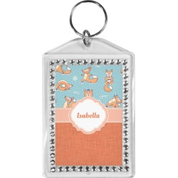 Foxy Yoga Bling Keychain (Personalized)
