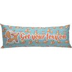 Foxy Yoga Body Pillow Case (Personalized)
