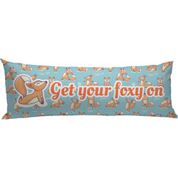 Foxy Yoga Body Pillow Case (Personalized)