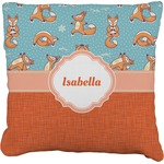 Foxy Yoga Faux-Linen Throw Pillow (Personalized)