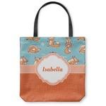 Foxy Yoga Canvas Tote Bag (Personalized)