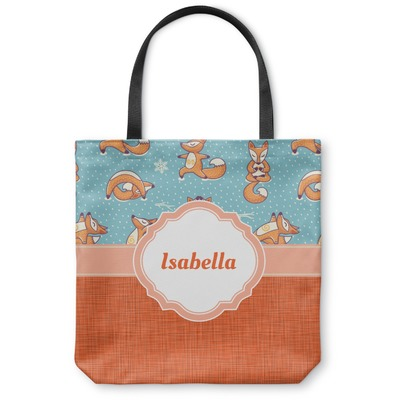 Foxy Yoga Canvas Tote Bag (Personalized)