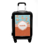 Foxy Yoga Carry On Hard Shell Suitcase (Personalized)