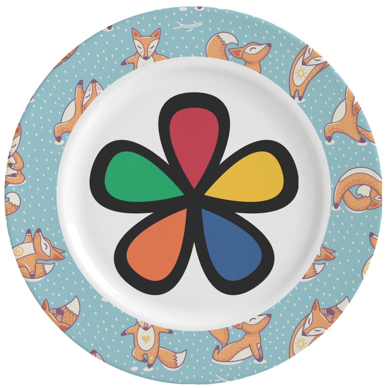 Foxy Yoga Ceramic Dinner Plates (Set of 4) (Personalized)  sc 1 st  YouCustomizeIt & Foxy Yoga Ceramic Dinner Plates (Set of 4) (Personalized ...