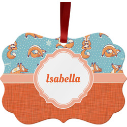 Foxy Yoga Ornament (Personalized)