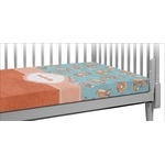 Foxy Yoga Crib Fitted Sheet (Personalized)