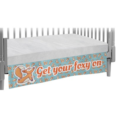 Foxy Yoga Crib Skirt (Personalized)