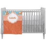 Foxy Yoga Crib Comforter / Quilt (Personalized)