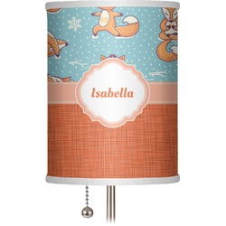"Foxy Yoga 7"" Drum Lamp Shade (Personalized)"