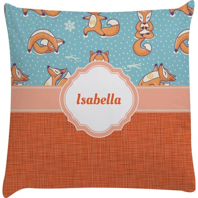 Foxy Yoga Decorative Pillow Case (Personalized)