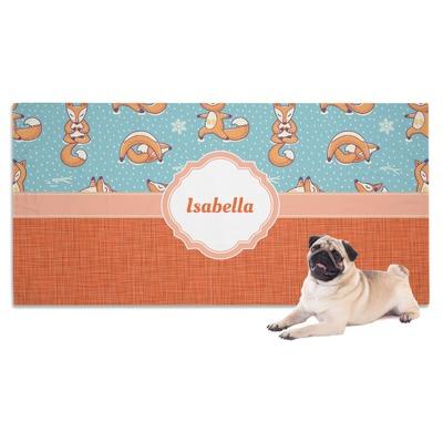 Foxy Yoga Dog Towel (Personalized)