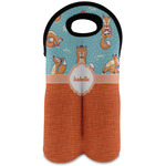 Foxy Yoga Wine Tote Bag (2 Bottles) (Personalized)