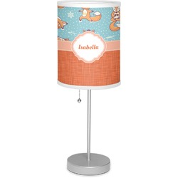 "Foxy Yoga 7"" Drum Lamp with Shade (Personalized)"