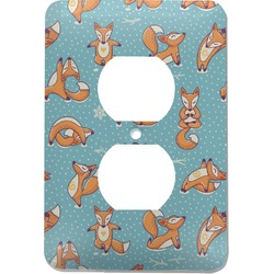 Foxy Yoga Electric Outlet Plate (Personalized)