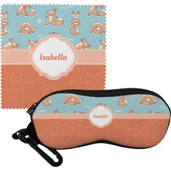 Foxy Yoga Eyeglass Case & Cloth (Personalized)