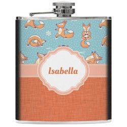 Foxy Yoga Genuine Leather Flask (Personalized)