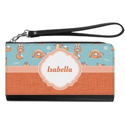 Foxy Yoga Genuine Leather Smartphone Wrist Wallet (Personalized)