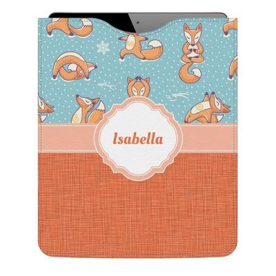 Foxy Yoga Genuine Leather iPad Sleeve (Personalized)
