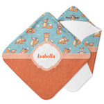 Foxy Yoga Hooded Baby Towel (Personalized)