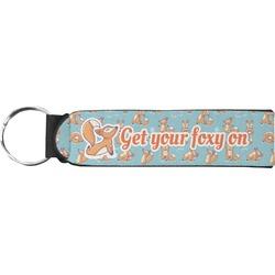 Foxy Yoga Neoprene Keychain Fob (Personalized)