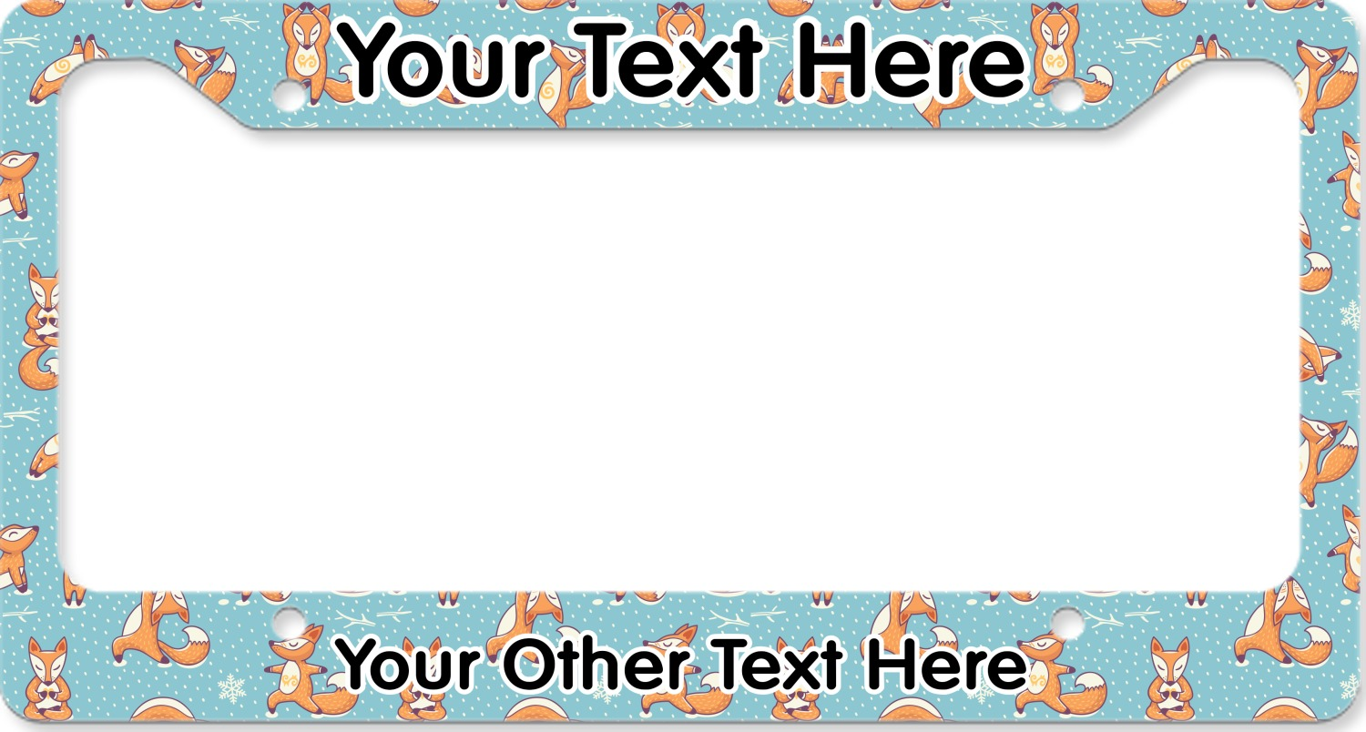 Colorful Personalized Bling License Plate Frames Inspiration ...