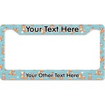 Foxy Yoga License Plate Frame (Personalized)