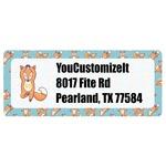 Foxy Yoga Return Address Labels (Personalized)