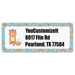 Foxy Yoga Return Address Labels (Personalized)