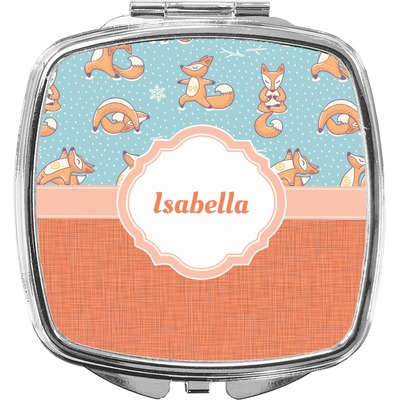 Foxy Yoga Compact Makeup Mirror (Personalized)