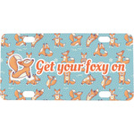 Foxy Yoga Mini / Bicycle License Plate (Personalized)