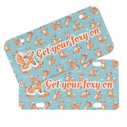 Foxy Yoga Mini/Bicycle License Plates (Personalized)