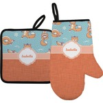 Foxy Yoga Oven Mitt & Pot Holder (Personalized)