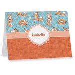 Foxy Yoga Note cards (Personalized)