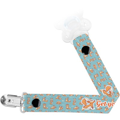 Foxy Yoga Pacifier Clips (Personalized)