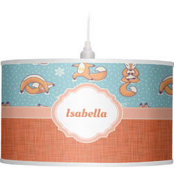 Foxy Yoga Drum Pendant Lamp (Personalized)