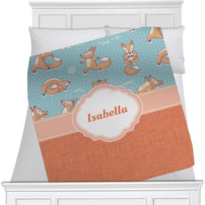 Foxy Yoga Minky Blanket (Personalized)