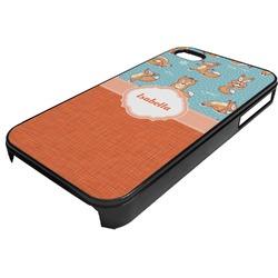 Foxy Yoga Plastic 4/4S iPhone Case (Personalized)