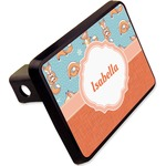 """Foxy Yoga Rectangular Trailer Hitch Cover - 2"""" (Personalized)"""